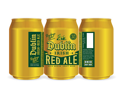 Dublin Irish Red Ale Packaging