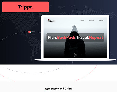 Marketing Page for Trippr App