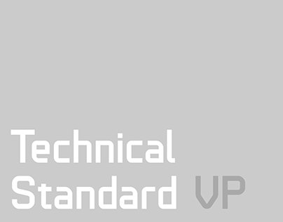 Technical Standard VP Typeface