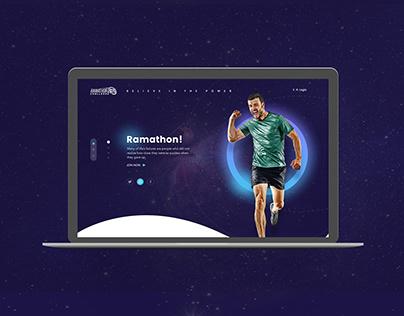 Ramathon - Initiative Motivation Website UI/UX Concept