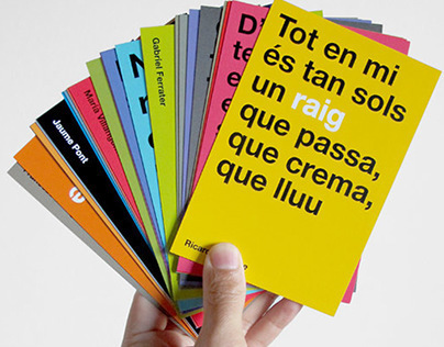 Catalan Poets Postcards for Catalan Letters Institution