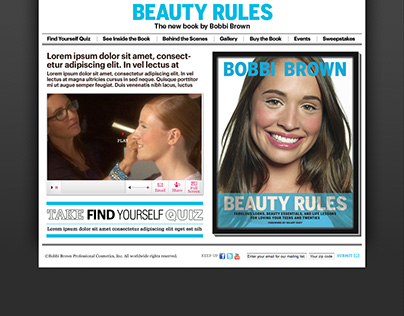 """Microsite for Bobbi Brown's New Book """"Beauty Rules"""""""