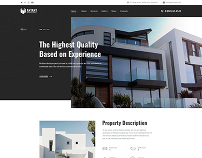 Antant - Real Estate WordPress Theme