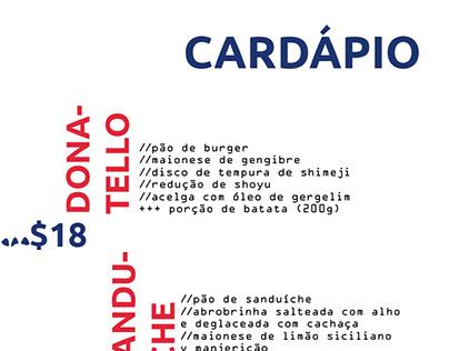 Cardápio // Cozinha Boca do Mundo