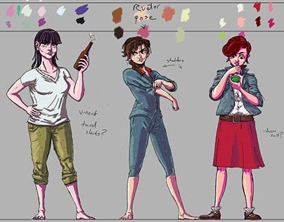 Sisters Cartoon Concepts