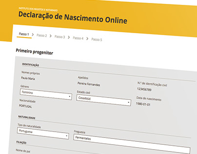 Declaração de Nascimento Online