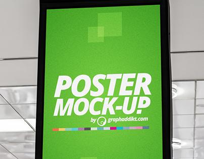 Free PSD Mall Poster mockup