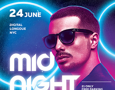 Midnight Setlist Party Flyer Template