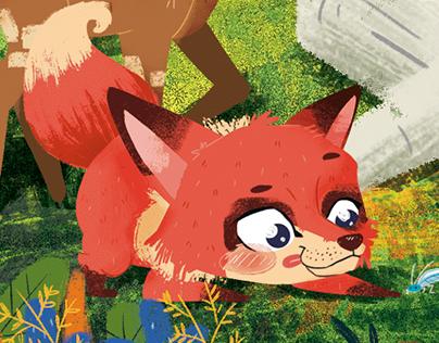 Dentro del bosque - Board game cover (WIP)