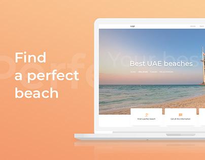 Web-site. Best UAE beaches