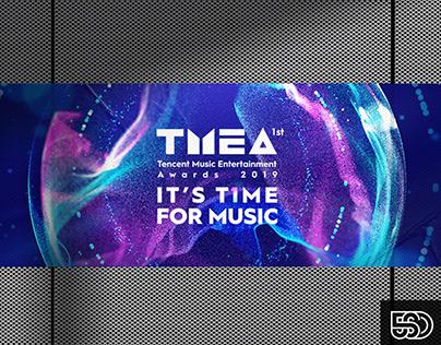 首届TMEA腾讯音乐娱乐盛典视觉包装