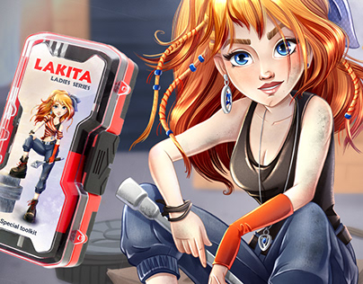 CHARACTER DESIGN for toolbox pack ladies series