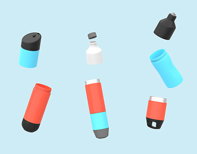 Modular Bottle to help prevent plastic pollution