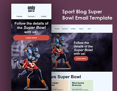 Sport Blog Super Bowl Email Template