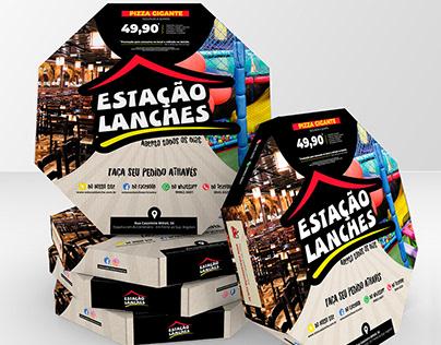 Redesign | Caixa de Pizza Estação Lanches