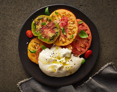 Tomates Basilic et Burrata