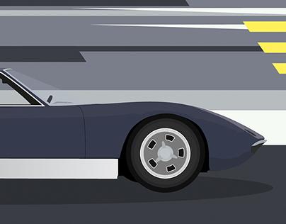 Lamborghini Miura- Poster Design