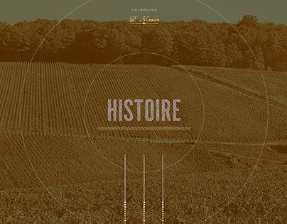 Champagne Dominique Massin - Website et e-commerce