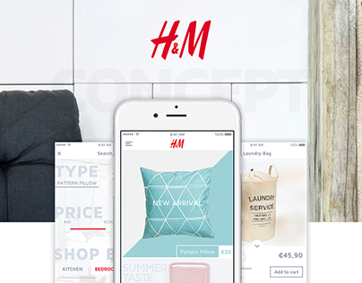 H&M - E-Commerce UI/UX iOS App Design