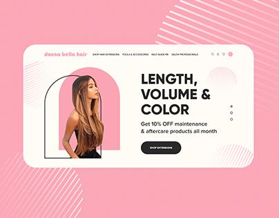 "Website Design - Hair Extensions ""Donna Bella Hair"""