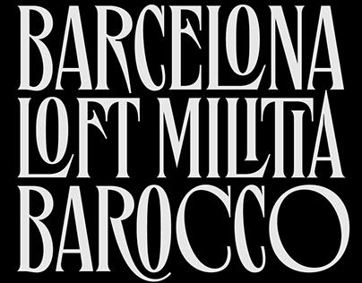 Bourbon St. Typeface