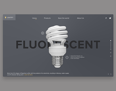 Fluorescent lamp website concept