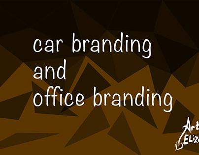 Car branding and office branding