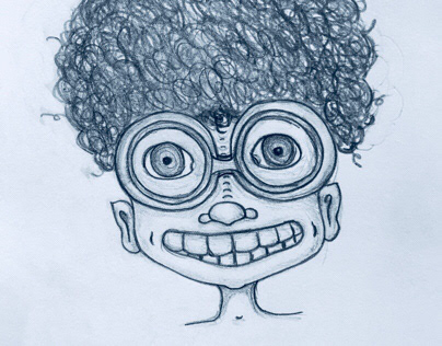 Curls and glasses - Illustration (in progress)