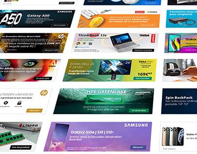 Webdesign - Bannières 2018-2019 - inmac wstore