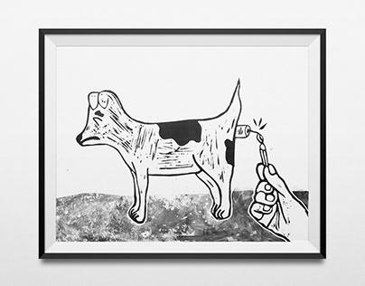Three Vices | Lino printing | Illustration