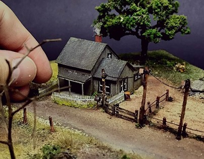 """Wizard of Oz - Diorama. """"There's No Place Like Home"""""""