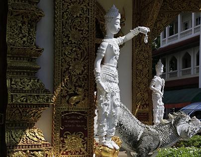 Wat BuppHaram in ChiangMai city, Thailand