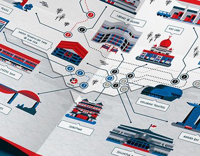 Caltex - Fuel My City Map Design