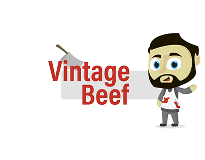 VintageBeef Character Wave Animation