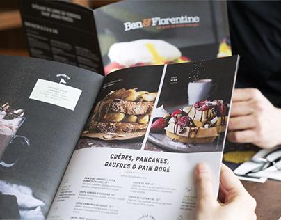 Ben & Florentine Menu Design and Campaign 2018