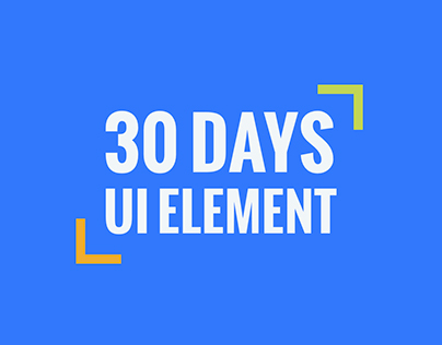 30 days of UI element