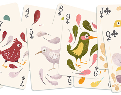 Birdy playing cards