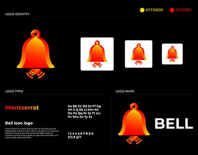 Bell icon logo.App notification,alarm logo