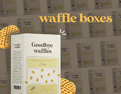 Waffle Boxes for a Goodbye Party at Work