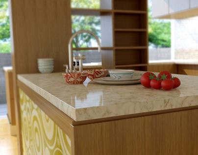 Kitchen V-Ray Render 3D