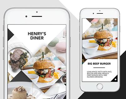 UI/UX Henry's Diner Concept