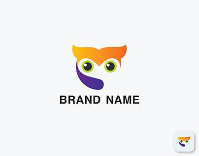 Cute Owl Logo, Modern Owl