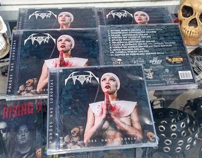 Arte da capa do cd Porões das Luxúrias da Atropina