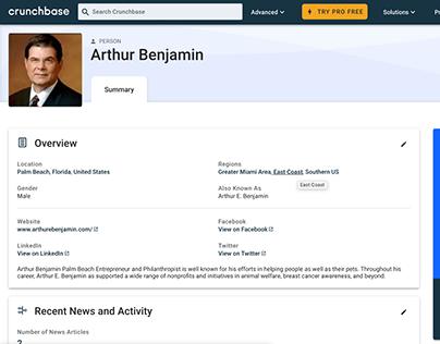 Arthur Benjamin Crunchbase