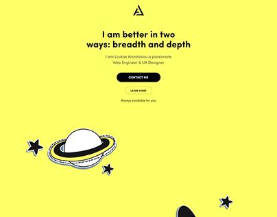 web designer portfolio website