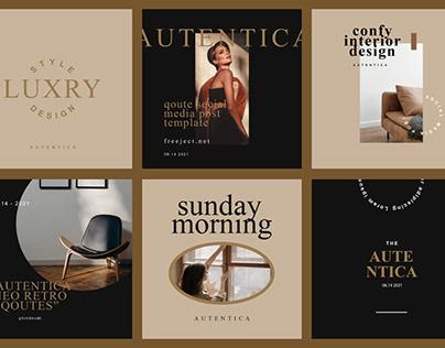 Free Autentica Social Media Post Template Design