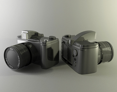 DSLR modeling and rendering in 3D's Max