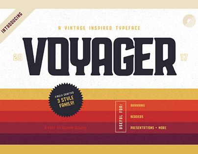 VOYAGER - FREE VINTAGE SERIF TYPEFACE