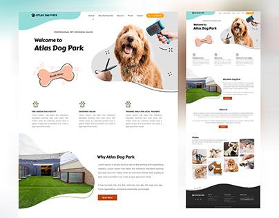 Dog website home page design