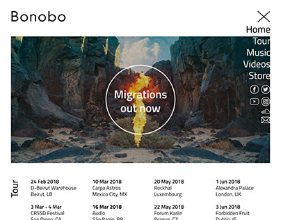 Music Home Page Project - Bonobo